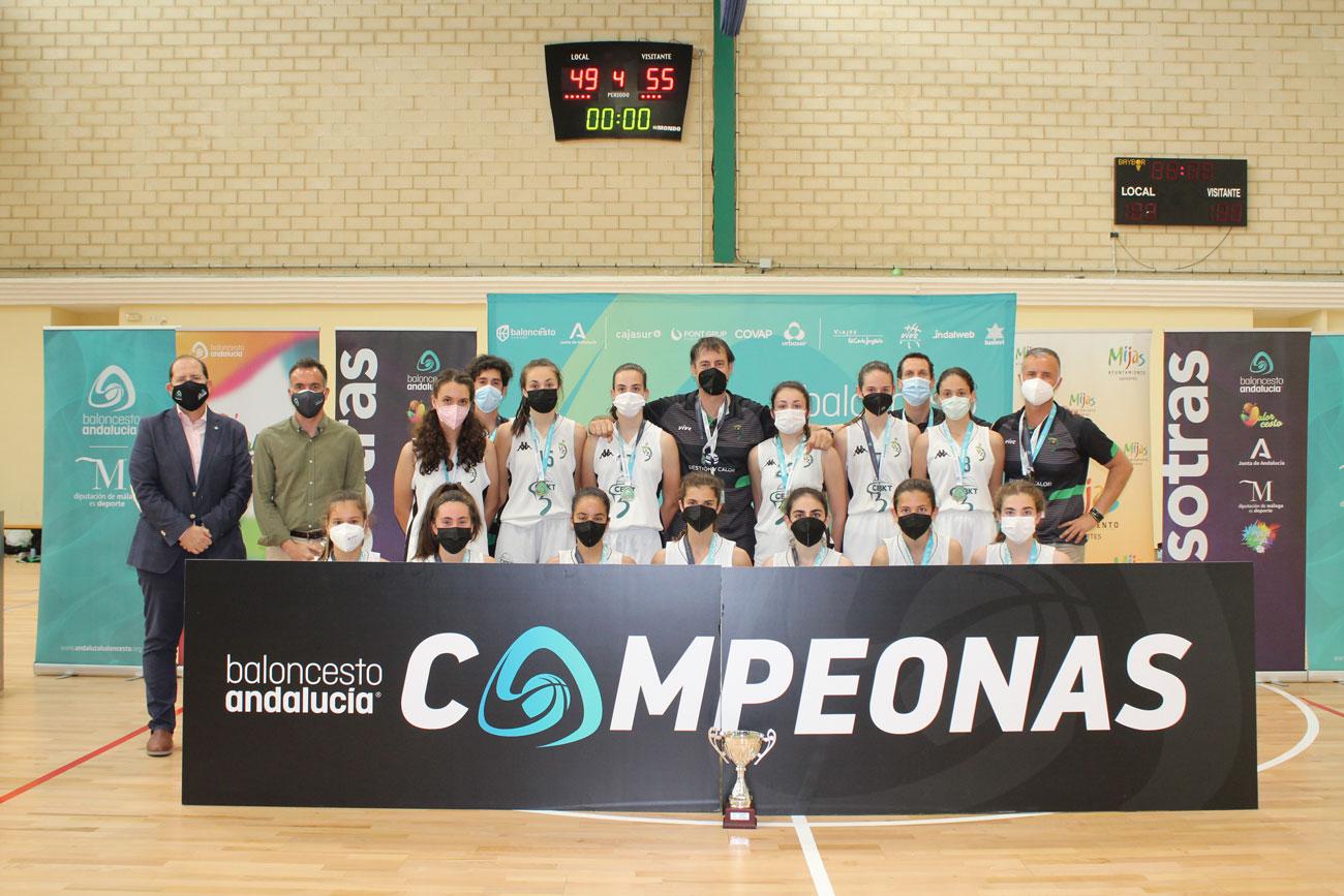 Cordobasket se lleva el oro en el Campeonato de Andalucía de baloncesto infantil femenino