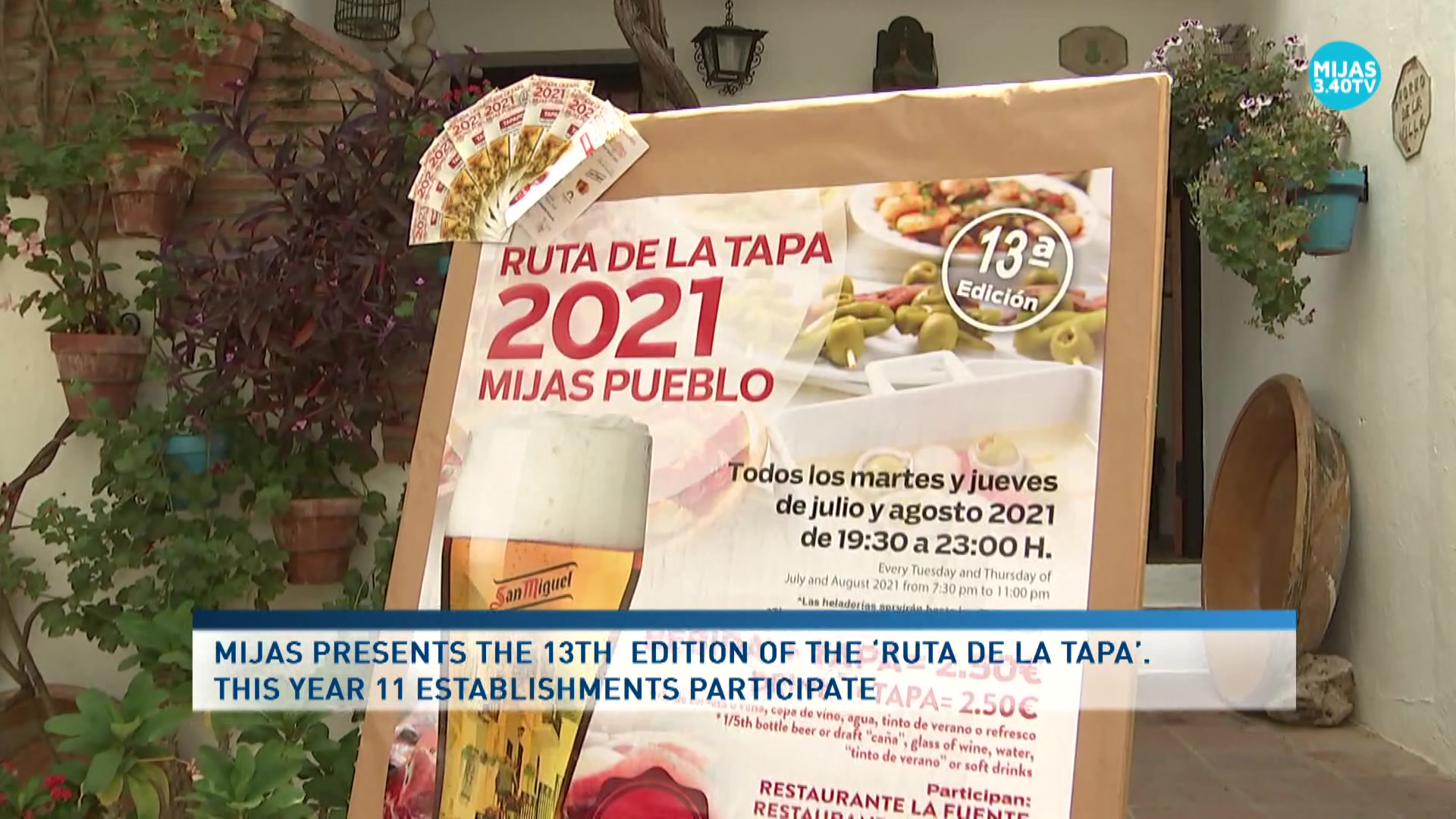The Council for Tourism presents the 13th Tapa Route in Mijas Pueblo
