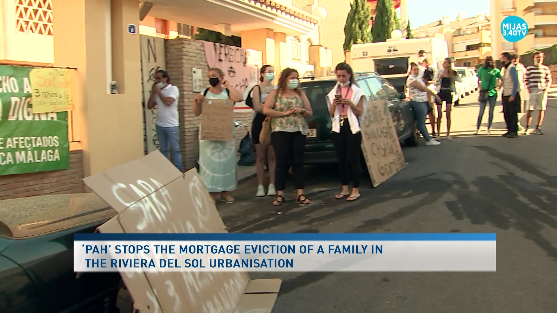 The 'PAH' mediates to stop an eviction in Mijas for at least one month