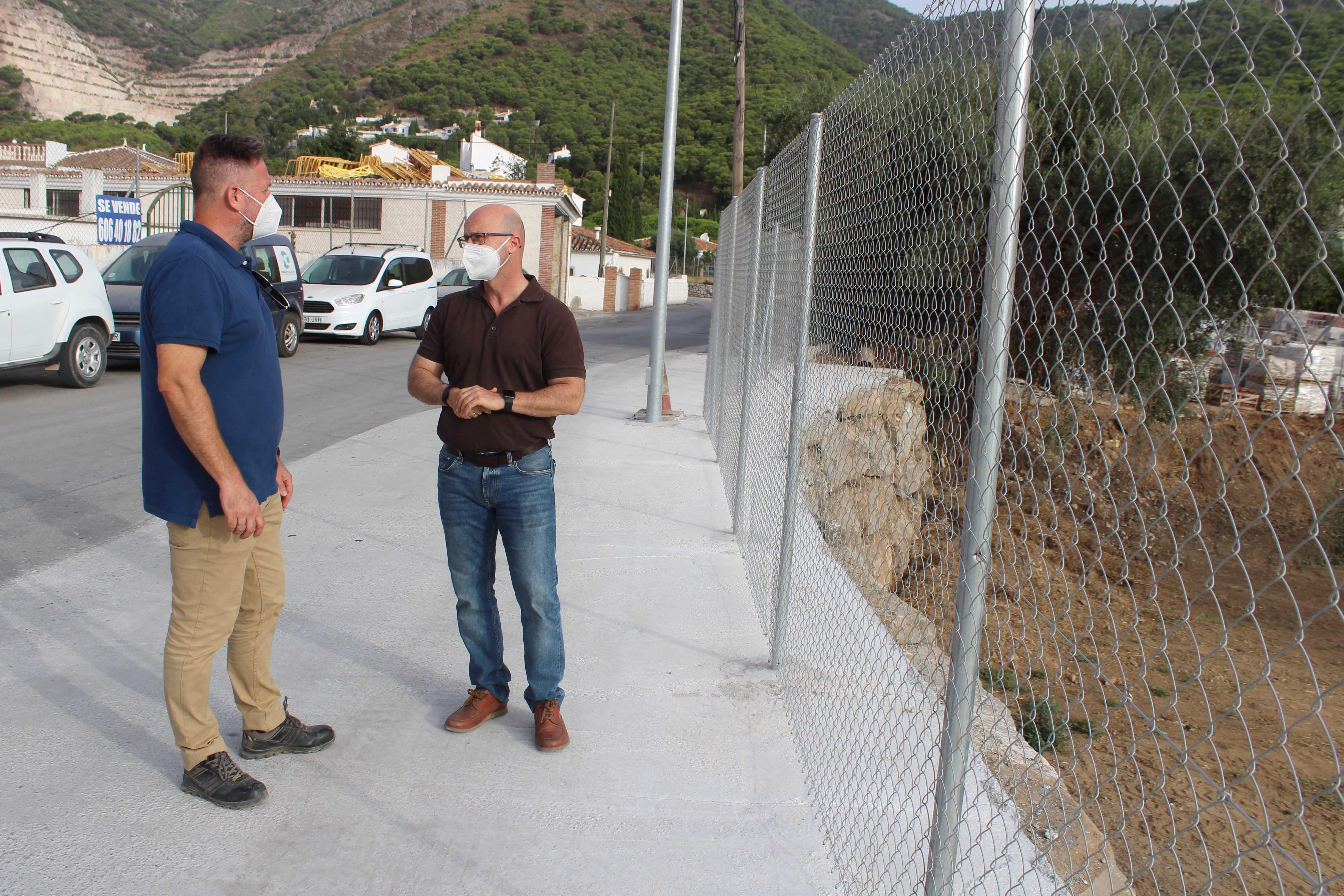 Mejorada la seguridad en el camino de acceso a San Antón