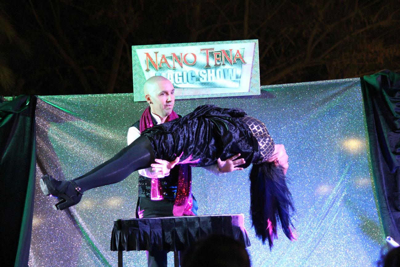 Éxito del primer 'Magic show' de Nano Tena en Mijas